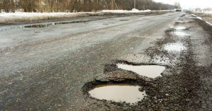 Potholes: a motorist's nightmare