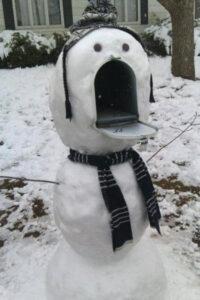 Le plus beau bonhomme de neige de la rue
