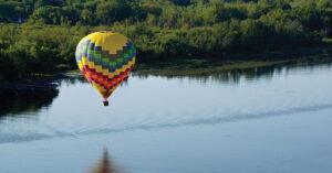 A hot air balloon ride over Quebec or Montreal
