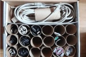 Tous vos câbles de recharge bien rangés